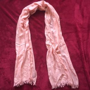 Peach and Gold Colored Scarf